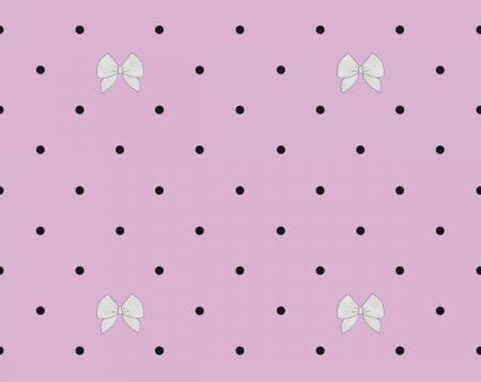 See Kate Sew - Kiss Me Kate - Polka Dot Bow - Purple - Cotton Woven Fabric C7524 Purple