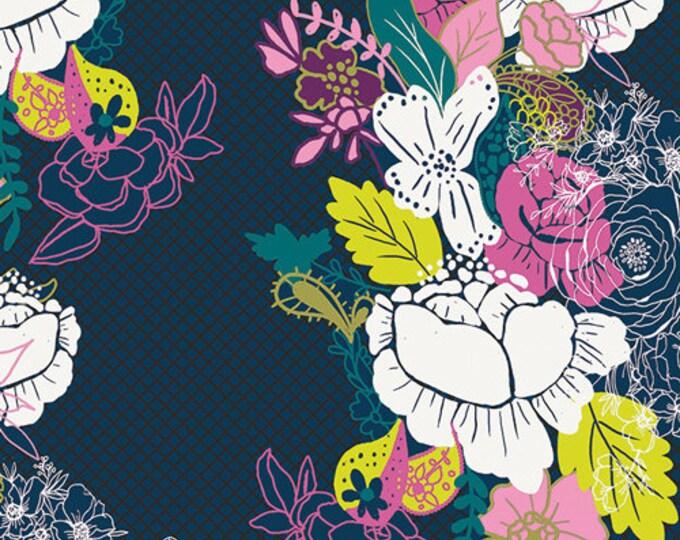Art Gallery Fabric - Virtuosa - Notte Flowerdrama - Cotton Woven Fabric