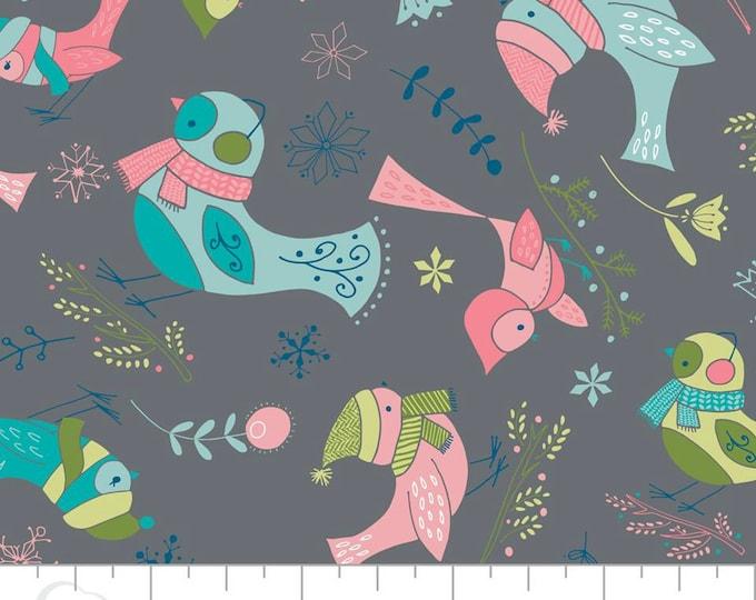 Camelot Fabric - Winter Wonderland -  Birds on Iron Cotton Woven Fabric