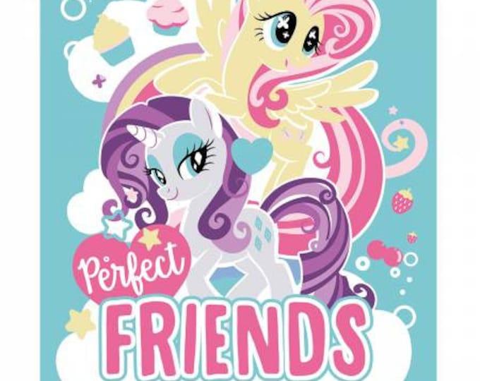 "My Little Pony - Perfect Friends - 36"" Cotton Woven Fabric Panel - Hasbro"