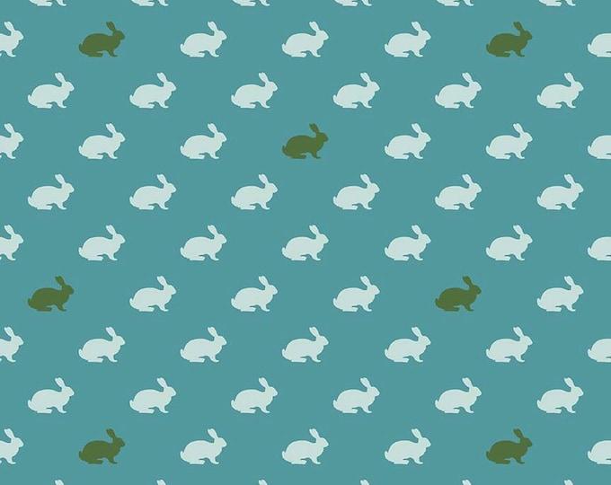 CLEARANCE -      Wonderland bunny blue Cotton Woven, Riley Blake  - Price per yard
