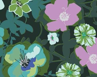 Art Gallery Fabric - Rainforest -  Blomma Garden - Rayon - Maureen Cracknell