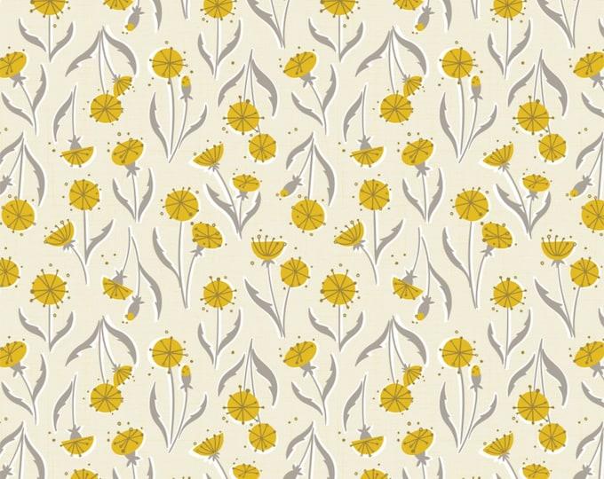 Cream Dandelions Cotton Woven Fabric #27180201-2 - Petal Pushers by Elizabeth Silver for Camelot Fabrics
