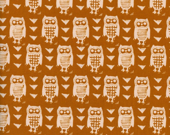 Firelight - Hooties Earth cotton woven fabric by Cotton + Steel