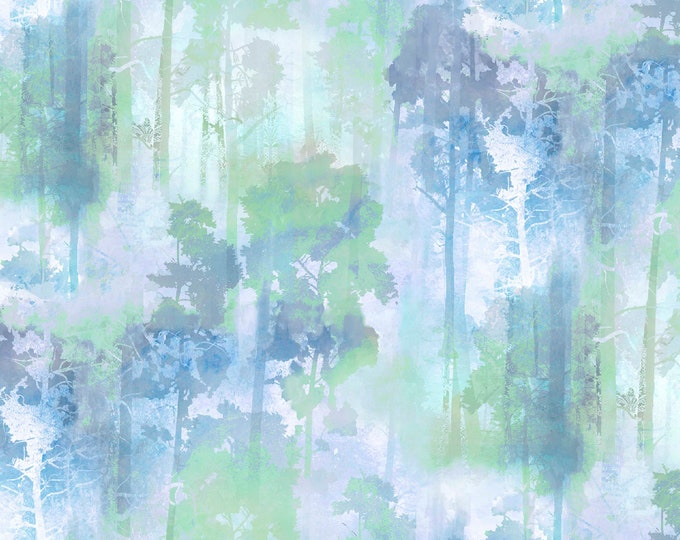 3 Wishes Fabric - In the Meadow by Connie Haley - Forest     #14490-MULTI Digitally Printed Cotton Woven Fabric
