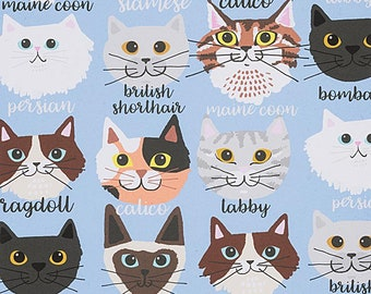 Alexander Henry Fabric - Calico and Company - Blue - Cotton Woven Fabric