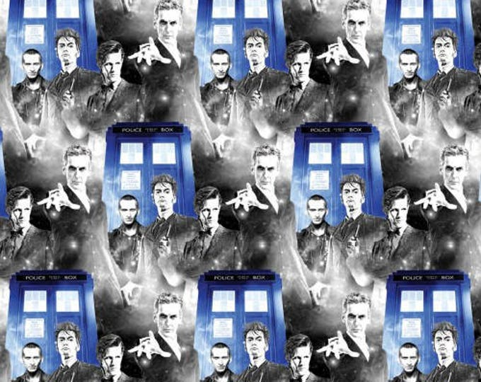 Springs Creative - Dr Who - Police Public Call  Cotton Woven Fabric - Price is per yard !