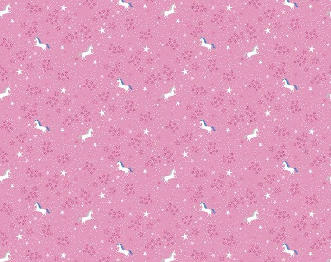 Riley Blake - My Unicorn by Kelly Panacci -Starry Night Dk Pink   #C8204R-DKPIN Cotton Woven Fabric