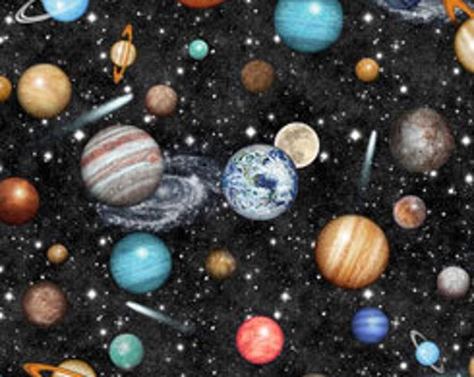 Quilting Treasures Fabrics - Intergalactic by Dan Morris - Planets - Black - Cotton Woven Fabric