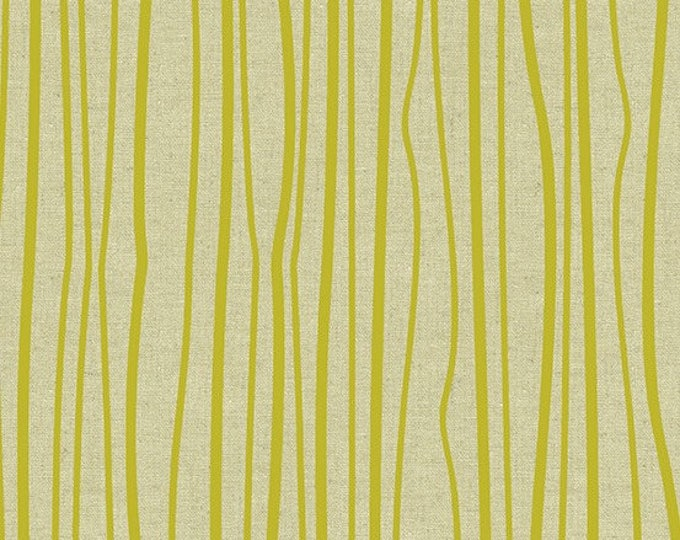 Andover Fabrics - Diving Board by Alison Glass -  ALN 8640 G Chartreuse Seagrass cotton linen fabric