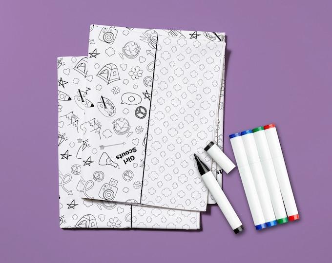 Kit -  Color Me Pillowcase Kit Girlscout # KT0101