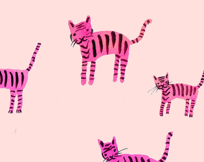 Moda Fabrics - Darlings by Ruby Star Society -  Tiger Stripes Hot Pink RS5021 12 - Cotton Woven Fabric