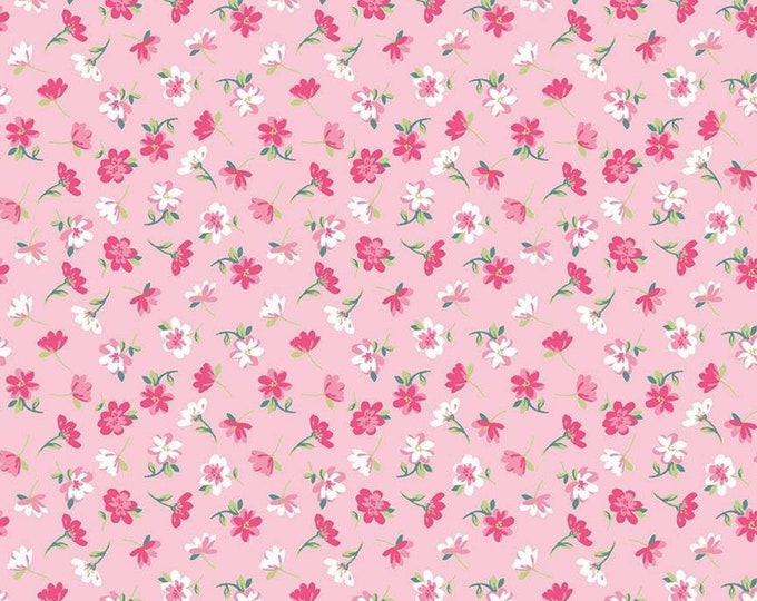 Pretty Bunny Flowers Novelty Pink C9006-PINK - The RBD Designers for Riley Blake Fabrics