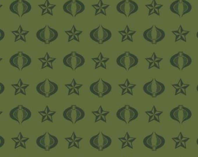 Camelot Fabrics - Licensed GI Joe - Cobra in Green  95040103-1 Cotton Woven Fabric
