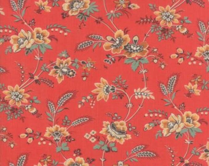 Moda - Purebred II Floral in Barn Red Cotton Woven