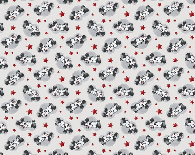 Springs Creative - Disney Mickey and Minnie True Love Knit cotton Lycra Knit fabric