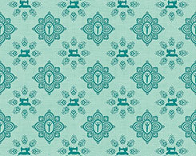Quilting Treasures - Seamless by Dan Morris - Damask - Teal - Cotton Woven