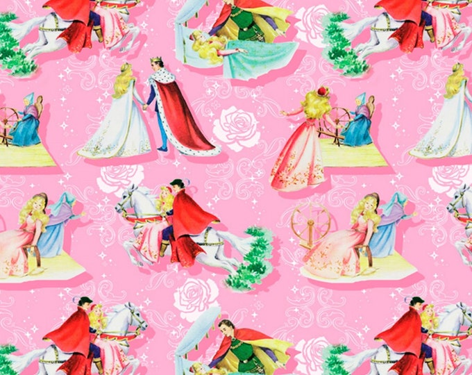 David Textiles - Vintage Storybooks from Four Seasons - Sleeping Beauty Happily Ever After # BW01780C1 - Cotton Woven Fabric