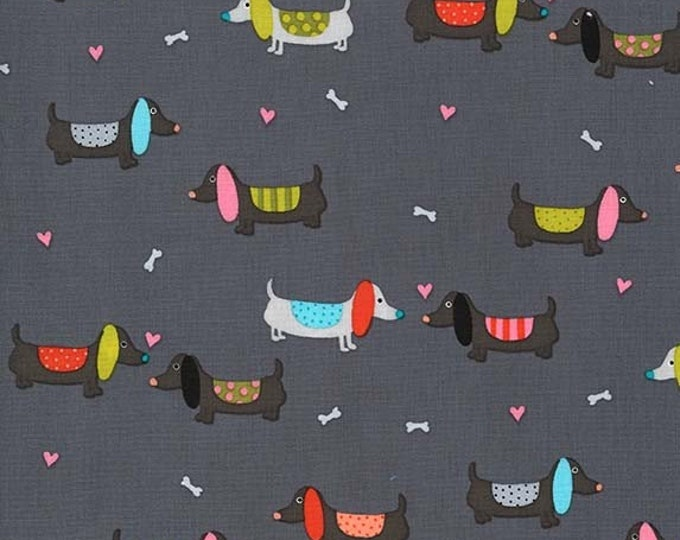 Michael Miller - Paw Prints for ASPCA - Clay Puppy Love dc8195_clay Cotton Woven Fabric