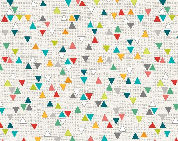 StudioE - Into the Woods - Triangle Geo - White - 4545-69 Cotton Woven Fabric
