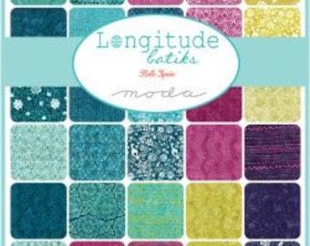 Moda Fabrics - Longitude Batiks by Kate Spain Pre-Cut 5 Inch Charm Pack