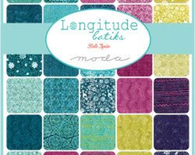 Moda Fabrics - Longitude Batiks by Kate Spain Pre-Cut 5 Inch Charm Pack