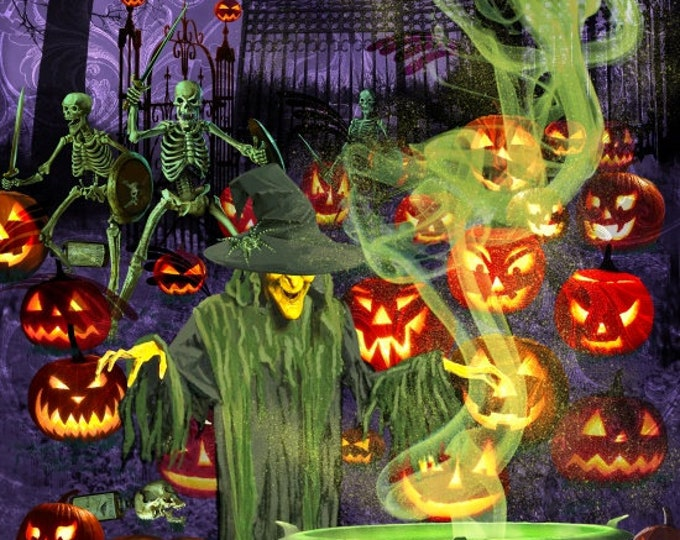 Fright Night Glow-In-The-Dark Panel Cotton Woven