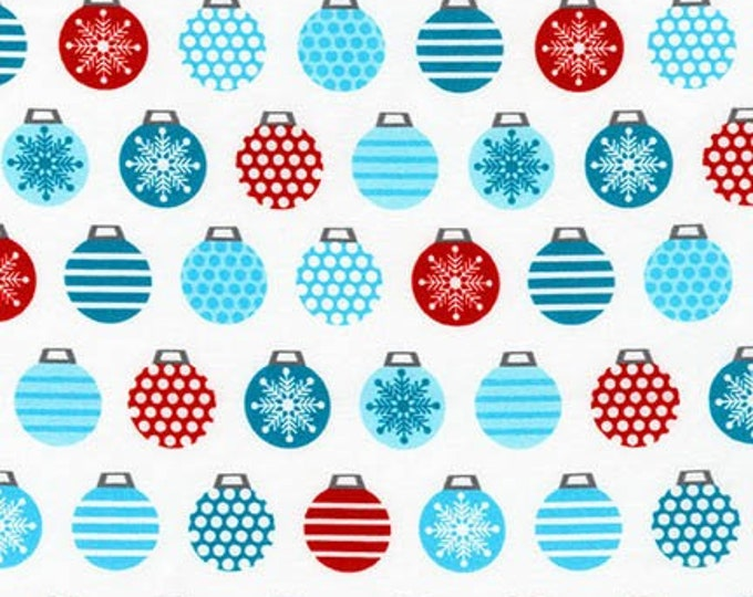 Robert Kaufman Fabric - It's Chilly Outside by Laurie Wisburn  - Ornaments AWN-17308-88 ICE Cotton Woven Fabric