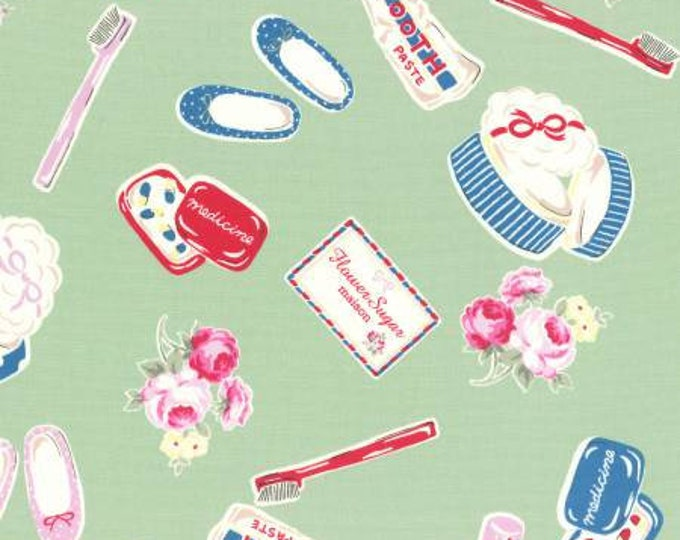 Lecien - Flower Sugar Maison Fall 2016 Collection -  Toothbrush, Paste, Toiletries Cotton Oxford on Mint
