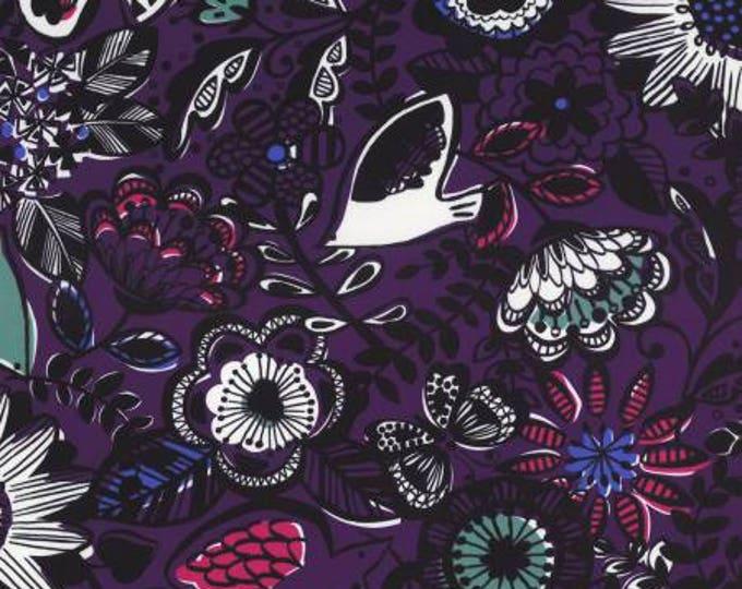 Lecien, Floral Purple Nylon Oxford