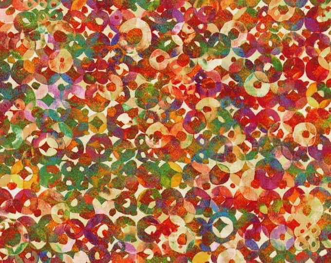 RJR Fabrics - Arabesque -  Digital Circles Cotton Woven Fabric