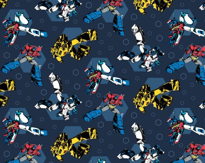 Retro in Dark Blue Cotton Woven  by Camelot Fabrics