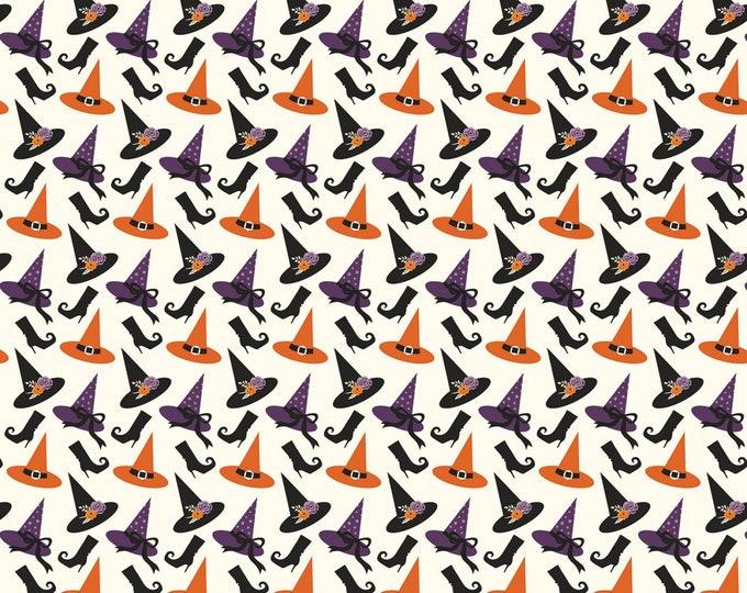 Riley Blake - Fab-Boo-Lous Witches by Dani Mogstad - Hats Cream #C8172R-CREAM Cotton Woven Fabric