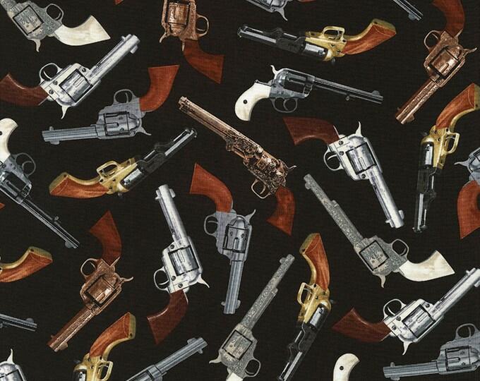 TImeless Treasures - Revolvers on Black Cotton Woven Fabric