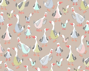 Windham Fabrics - Cubby Bear Flannel by Whistler Studios - Mother Goose Tan Cotton Flannel # 51367-2 - 100% Cotton Flannel
