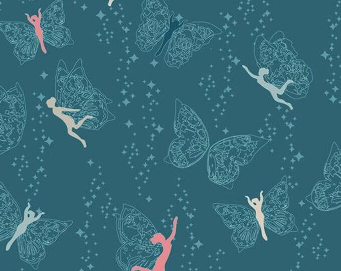Art Gallery Fabric - Flower Child - Prairie Fairies - Night - Cotton Woven