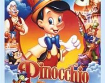 "Camelot Fabric - 36"" Panel Disney's Classic Pinocchio cotton woven fabric"