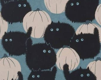 OUT OF PRINT! Alexander Henry Fabric - Belinda's Big Kitty Stone 8520C Cotton Woven fabric