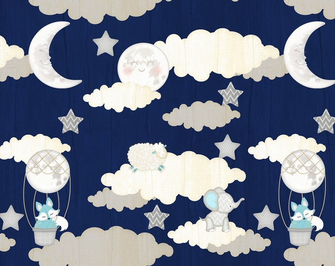 Wilmington Prints -  All Our Stars by Jennifer Pugh - Navy Scenic # 82579-419 - Cotton Woven Fabric