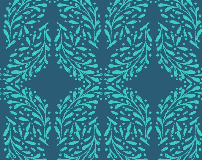 Fabric Editions  - Little Thicket - Leaves Cotton Woven Fabric #14526-NAVY