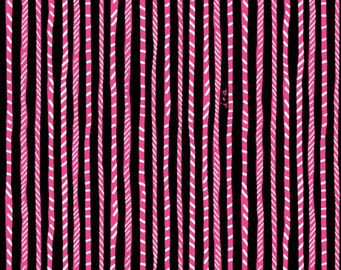 Quilting Treasures - Sugar Rush - Black Swizzle Stripe Cotton Woven Fabric