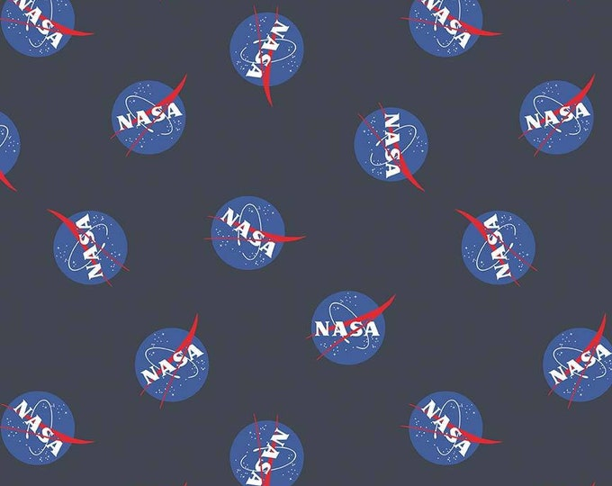 Riley Blake Fabric - Licensed NASA Out of This World - Main Print - Black  C7800-Black Cotton Woven Fabric