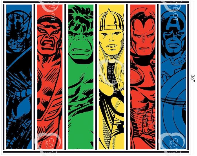 "Team Up Marvel 36"" Cotton Woven Fabric Panel"