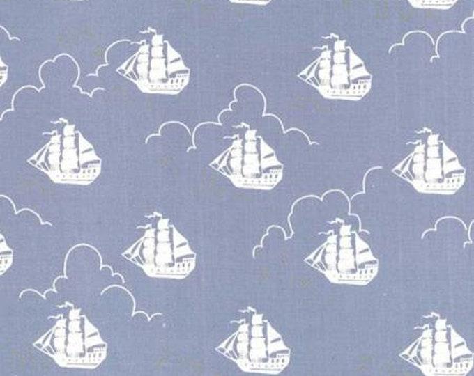 Michael Miller - Peter Pan by Sarah Jane  Jolly Roger - Fog -Metallic Cotton Woven Fabric