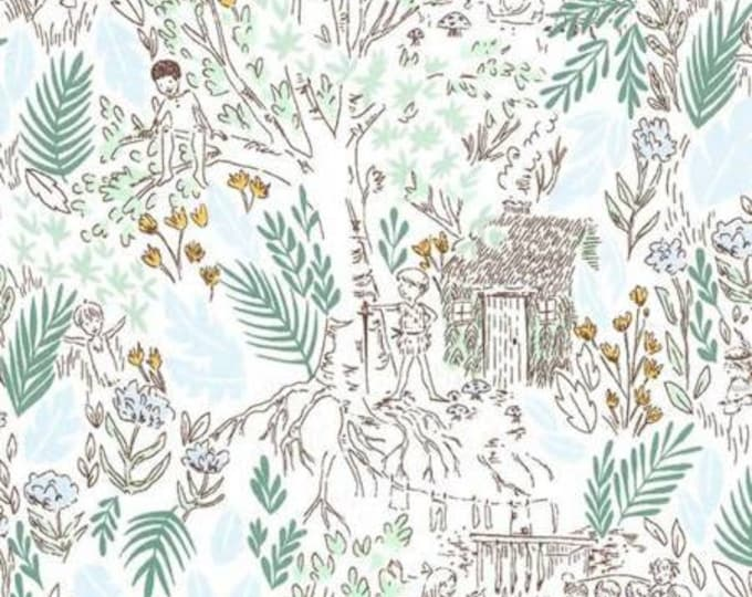 Michael Miller - Peter Pan by Sarah Jane  The Little House - Fern - Cotton Woven Fabric