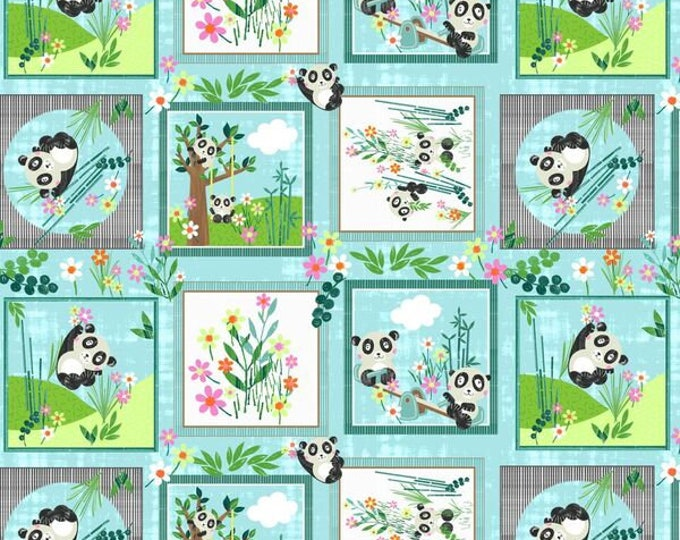 Panda Parks Blocks #9478-11 Cotton Woven Fabric - Panda Park-Blank