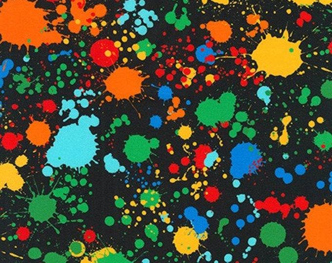 """Multi Splatter 108"""" wideback SRKXD-18147-205 - Quilt Backing by Robert Kaufman - Cotton Woven Fabric"""