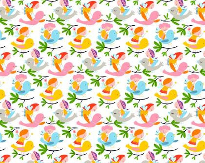 SALE !! Wings and Things, Fit and Flutter Rainbow designed by David Walker for Free Spirit Fabrics