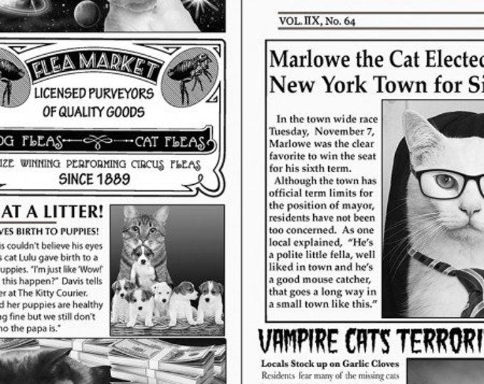 Timeless Treasures - Cat Burglar - Cotton Woven Fabric - Timeless Treasures C6705