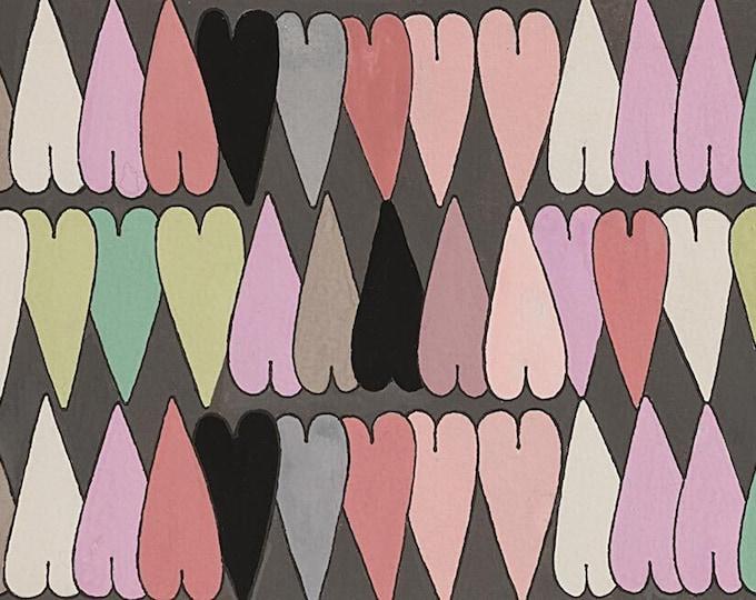 Alexander Henry Fabrics - The Ghastlies - Heart-8793A Slate Multi  - Cotton Woven Fabric